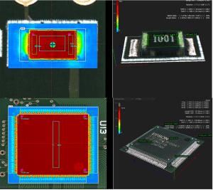 Figure 4 3D inspection of SMT components